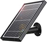 Solar Panel Compatible with YESKAMO Wireless Rechargeable Battery Security Camera, IP65 Waterproof Solar Panel with USB Cable, Non-Stop Power Supply for Wire Free Outdoor Indoor WiFi Camera