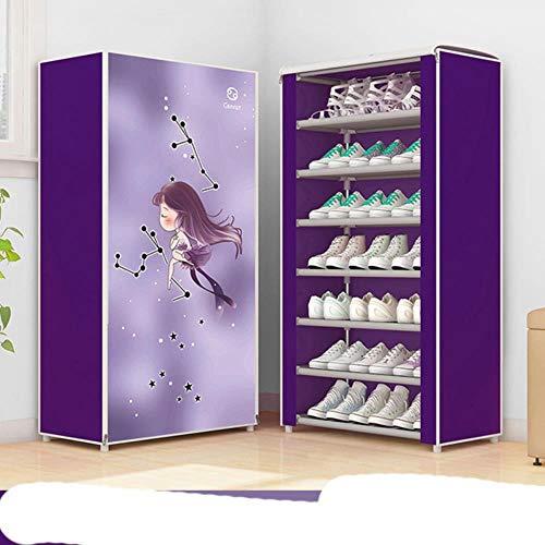 12 Constelaciones a prueba de polvo grande tela no tejida zapatos estante organizador casa dormitorio dormitorio estante gabinete -F8-1, China