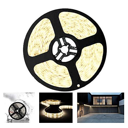 Arotelicht - Striscia luminosa 5 m, 300 LED, 5050 SMD, 12 V, 60 LED/M (bianco naturale, solo 5 m, IP65)