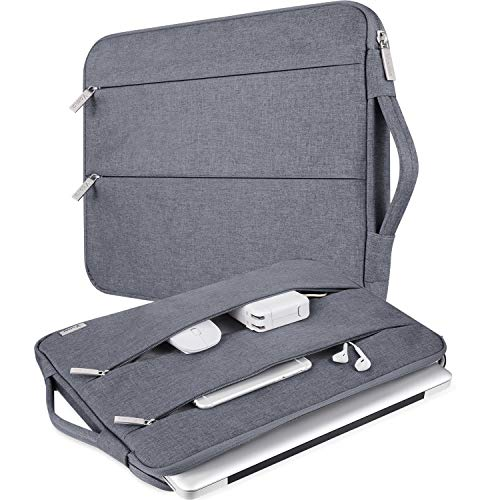 """V Voova 13 13.3 Inch Laptop Sleeve Carrying Case Compatible with 2018-2021 MacBook Air/MacBook Pro M1,13.5"""" Surface Book 3/Laptop 4,HP Envy 13,Chromebook,Slim Computer Bag Cover with Handle,Grey"""
