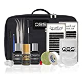 QBS Kit de luz de extensión de pestañas profesional - Loventure Silk Lash (Curl C 0.15x10 & Curl C 0.20x12)