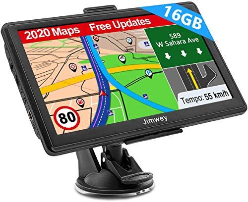 Navigation für Auto LKW Navi 7 Zoll Navigationsgerät Testsieger 2020 Navigationssystem PKW 16GB Lebenslang Kostenloses Kartenupdate mit POI Blitzerwarnung Sprachführung Fahrspur 52 Europa UK Karte