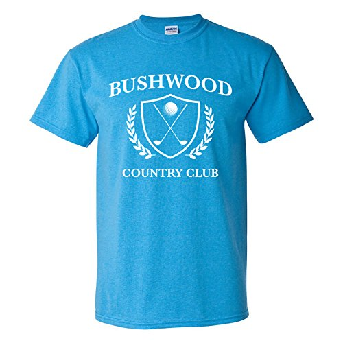 UGP Campus Apparel Bushwood Country Club - Funny Golf Golfing T-Shirt - Small - Heather Sapphire