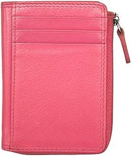 ili New York 7411 Leather Credit Card Holder (Hot Pink)