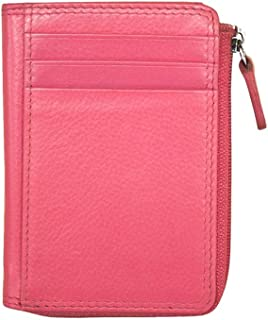 ili New York 7411 Leather Credit Card Holder (Hot Pink)
