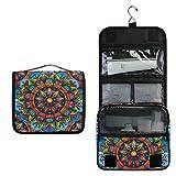 Alarge - Neceser para colgar, colorido, diseño de mandala con flores y mandalas