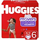 Huggies Little Movers Baby Diapers, Size 6, 52 Ct