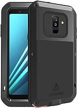 جراب Galaxy A6 Plus 2018، جراب Bpowe SM-A6+ درع تانك ألمونيوم معدني من جوريلا زجاجي مقاوم للصدمات عسكري قوي ومتين لهاتف Samsung Galaxy A6 Plus 2018, A6 Plus