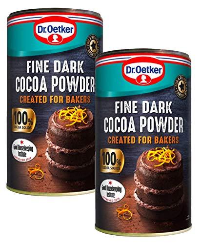 Feines dunkles Kakaopulver, 190 g, 2 Stück