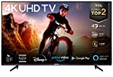 TCL 43BP615 - Televisor 43 Pulgadas, Smart TV con Resolución 4K HDR, Android TV, Micro Dimming Pro, Dolby Audio, Asistente de Google, Netflix, Youtube, Amazon Alexa