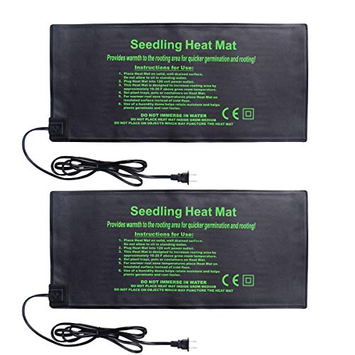 HYDGOOHO Seedling Heat Mat 2Pack Heating Mat Hydroponic Heating Pad Waterproof for Seed Germination Cloning and Plant Propagation S