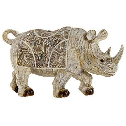 THE WORLD OF ANIMALS Nashorn, Statue, helle Holzoptik, 30 cm