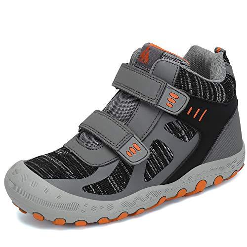 Mishansha Zapatillas de Senderismo para Unisex-Niños Niñas Calientes Botas de Trekking Montaña Zapatillas Resistentes Al Aire Libre, Gris 34