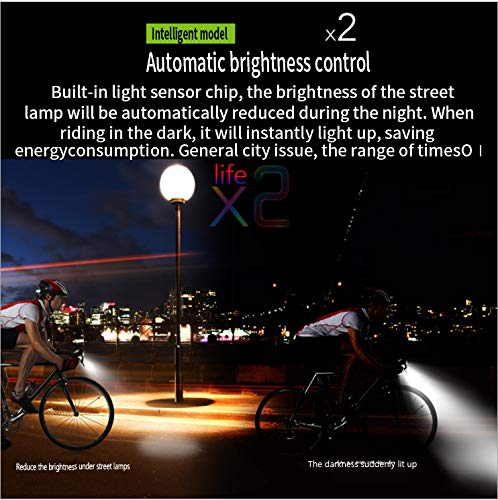 N/H Cycling Equipment, Mountain Bike Bicycle Light T6, is a high-Brightness Double Bead Headlight, which is touchable, Rainproof, Rechargeable, and Whistle. (4000 Milliampere Double T6 (Blue))