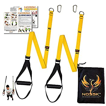 NOSSK Twin PRO Bodyweight Fitness Strap Trainer  Yellow