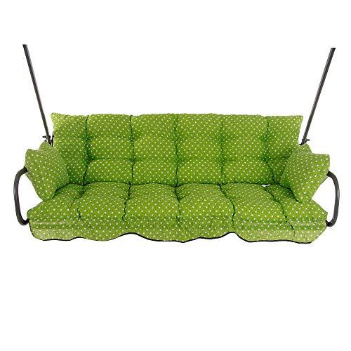 PATIO Auflagen Set Ravenna 175 cm für Hollywoodschaukel Polsterauflage Sitzkissen Rückenkissen Seitenkissen Gesteppt H025-12PB
