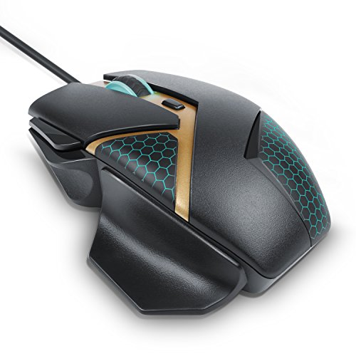 CSL - 4000 dpi Fusion Gaming Mouse - optische USB Gaming Maus - 4000 dpi Abtastrate High Precision - ergonomisches Design - PC MAC - schwarz