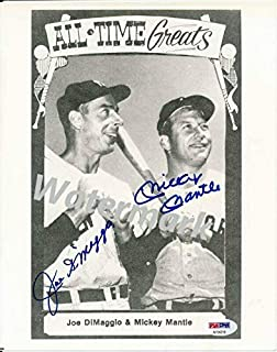 Mickey Mantle & Joe DiMaggio Yankees Dual-Signed 8x10 Photo 142257 - PSA/DNA Certified - Autographed MLB Photos