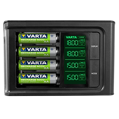 Varta 57674101441 LCD Smart Charger incl. 4X 56706, 1/4 - AA/AAA