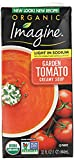 One 32 oz. carton of Imagine Organic Creamy Light Sodium Garden Tomato Soup Made with organic tomatoes and herbs Dairy and gluten free Certified Kosher and vegan Non GMO Project Verified and USDA Certified Organic