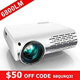 YABER Native 1080P Projector 6800 Lux Upgrade Full HD Video Projector 1920 x...