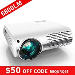 💞⚠【$50 off code:B8QURQ3I】Innovative 4D Keystone Correction & Zoom Function} Our hd projector is the first projector with± 50 ° 4D (vertical & horizontal) keystone correction function to ensure the projected image is always a standard rectangle. It's ...