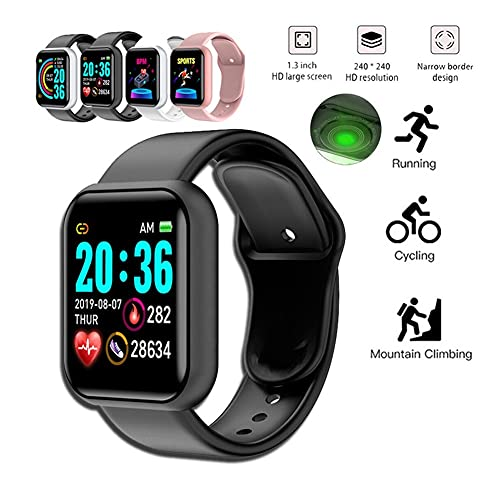 Xhwyf Reloj Digital, presión Arterial y Monitor de frecuencia cardíaca, Pulsera Inteligente para Hombres y Mujeres, Adecuado para el rastreador de Ejercicios Deportivos Impermeables (Color : 1)