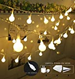 100 LED Globe String Lights, Ball Christmas Lights, Indoor/Outdoor Decorative Light, USB Powered, 39 Ft, Warm White Light - for Patio Garden Party Xmas Tree Wedding Decoration by SPIRITUP