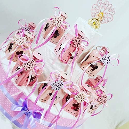 Bonboniere in Tortenform mit Laternen Rosa mädchen B Herz Geburt Taufe Geburtstag Kommunion Torta da 30 bomboniere