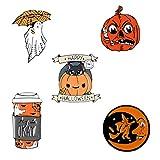 Harilla 5X Dibujos Animados Halloween Calabaza Broche Insignia Esmalte Pin de Solapa Niños Adultos Kit Mixto