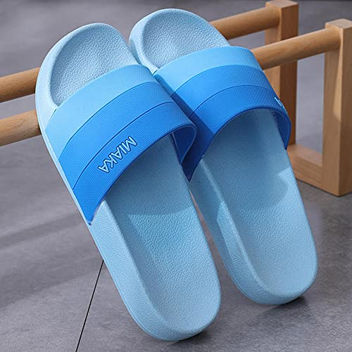 DDTT Chanclas de Playa Zapatos,Zapatillas de Extremo Grueso de baño, tamaño Antideslizante Grande-Cielo Azul_40-41,Hombre Mujer Zapatos para la Ducha la Playa