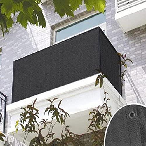Frangivista e Telo Frangivento per Balcone, 90X500CM Recinzione Copertura, HDPE Telo Oscurante Giardino, Copri Ringhiera Balcone, Protezione Acqua Resistente al Vento per Patio Giardino