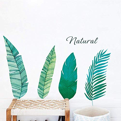 Palm Leaves muurstickers voor woonkamer, slaapkamer, woonkamer, woondecoratie, accessoires, groen leaf verrekijker