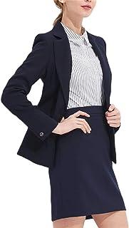 レディース スーツ スカート 二点セット ジャケットスカート 長袖オフィススーツ 大きいサイズ 着痩せ ビジネス フォーマル 通勤 おしゃれ