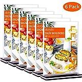 LELADY 6 Stück DIN A5 Tischaufsteller schräg/Werbeaufsteller/Glasklar Acryl, T-Aufsteller...
