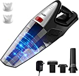 HoLife Handheld Vacuum, 8KPA Cordless Hand Vacuum Cleaner Rechargeable Hand Vac, 100W Stronger