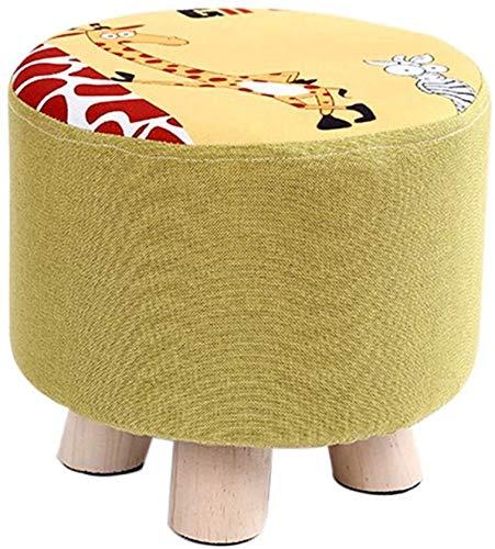Leileixiao - Sgabello basso per bambini, motivo: giraffa fumetto, per camera da letto, soggiorno, cambio scarpe