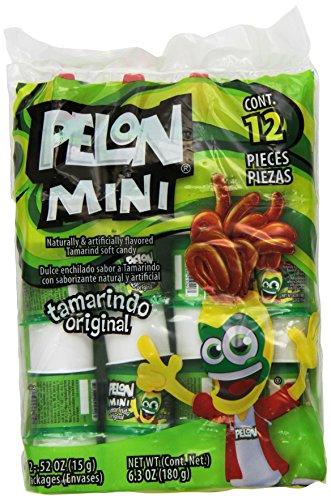 PELON PELO RICO Tamarind Candy, Mini, 6.3 Ounce (Pack of 12)