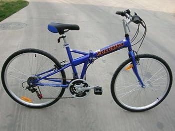 Columba Folding Bike Blue Color 26 inch 18 Speed  SP26S_BLU