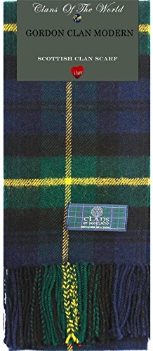 I Luv Ltd Gordon Clan Modern Tartan Clan Scarf 100% Soft Lambswool
