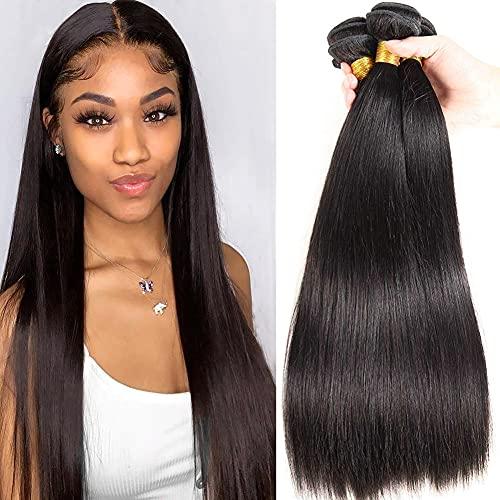 Brazilian Straight Hair Bundles 100% Straight Human Hair Bundles 20 22...