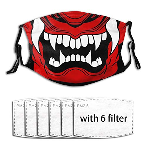 Samurai Oni Mask Adults Fashion Personalized Custom Dust Face Mouth Cover