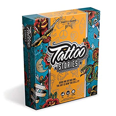 Bicycle Tattoo Stories Board Game - A Party Game for Family and Adults Ages 12 and Up