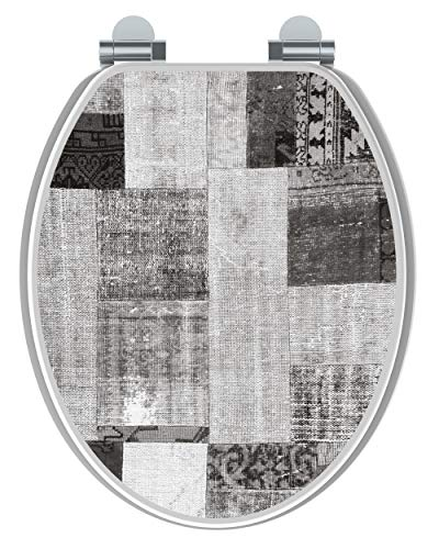 Allibert 823753 WC-Sitz, komprimiertes Holz, Grau, 36,7 x 5 x 47 cm