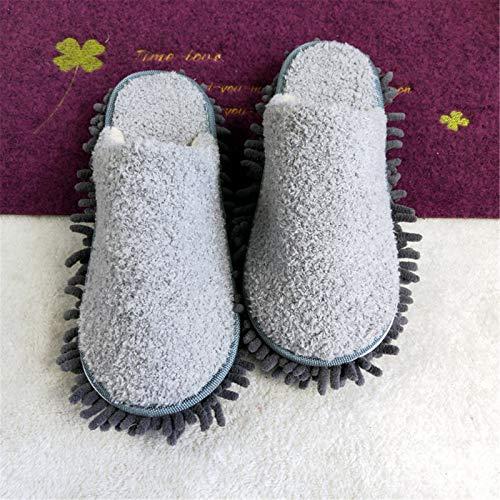 Zapatillas de trapeador 2 pares de zapatillas de limpieza multifunción unisex Multifunción zapatos desmontables limpiando fregona para cocinas reutilizables sala de estar Zapatillas de limpieza de pis