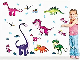 Wall Decal Stickers Dinosaurs T-rex Kids Bedroom Nursery Daycare and Kindergarten Mural Home Decor DIY Self Adhesive Removable
