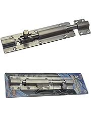 Euro Tische Roestvrijstalen deurgrendel, boutvergrendeling, ideaal voor binnen en buiten, stabiel vergrendelslot voor deuren en poorten, 175 x 40 mm
