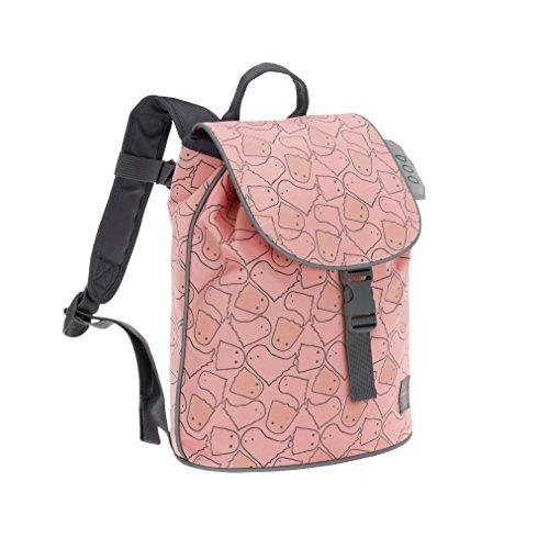 LÄSSIG Kinderrucksack Junge mit Brustgurt Kindergartenrucksack Kinder Tasche 3 Jahre/Mini Duffle Backpack, Spooky peach