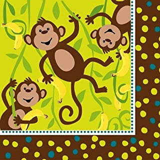 16-Count Paper Lunch Napkins, Monkeyin' Around
