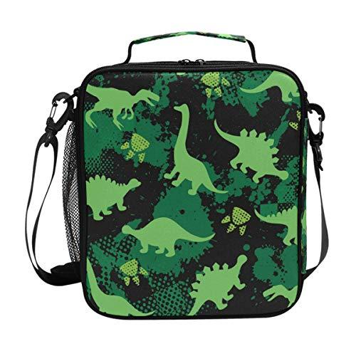 Isoa Dinosaurier Dm_6 Lunchtasche mit Eisbeutel für Erwachsene/Herren/Damen/Kinder, wasserabweisend, auslaufsicher, weiche Kühltasche, Thermobox für die Arbeit, Schule, Picknick